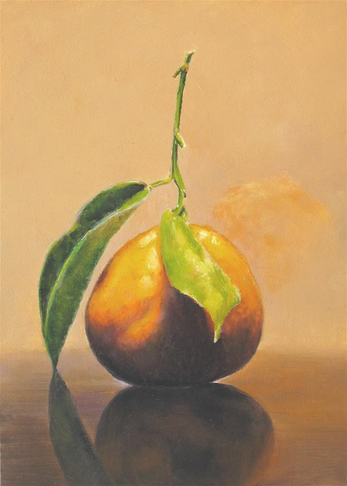 """Mandarin Orange Simplicity"" original fine art by Linda Demers"