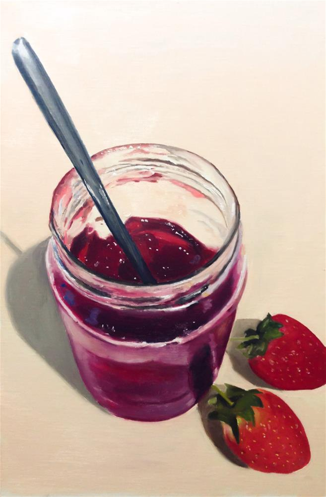 """Strawberry Jam"" original fine art by James Coates"
