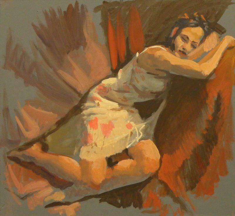 """White Dress"" original fine art by Peter Orrock"