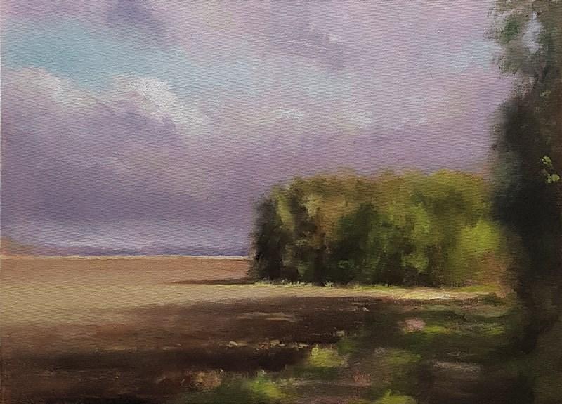 """""""Towards Wollaston"""" original fine art by Neil Carroll"""
