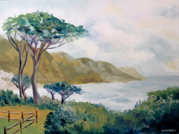"""Mark Adam Webster - Lower Kloof Road, Cape Town, South Africa Oil Painting"" original fine art by Mark Webster"