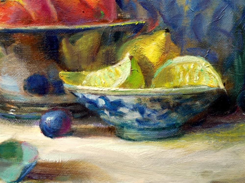 """Lemon Slices"" original fine art by Julie Ford Oliver"