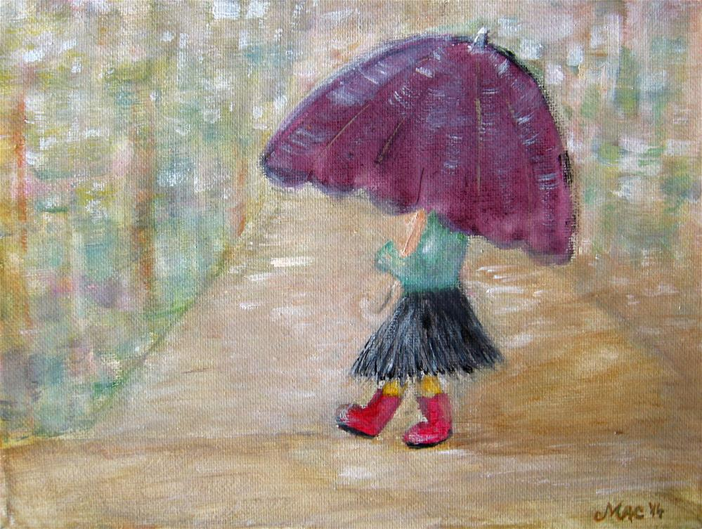 """My Umbrella"" original fine art by Alina Frent"