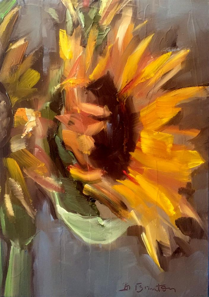 """Sunflower Study"" original fine art by Gary Bruton"