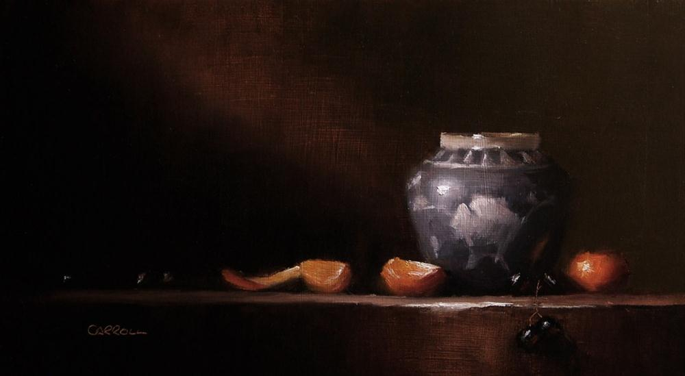 """Ginger Jar"" original fine art by Neil Carroll"