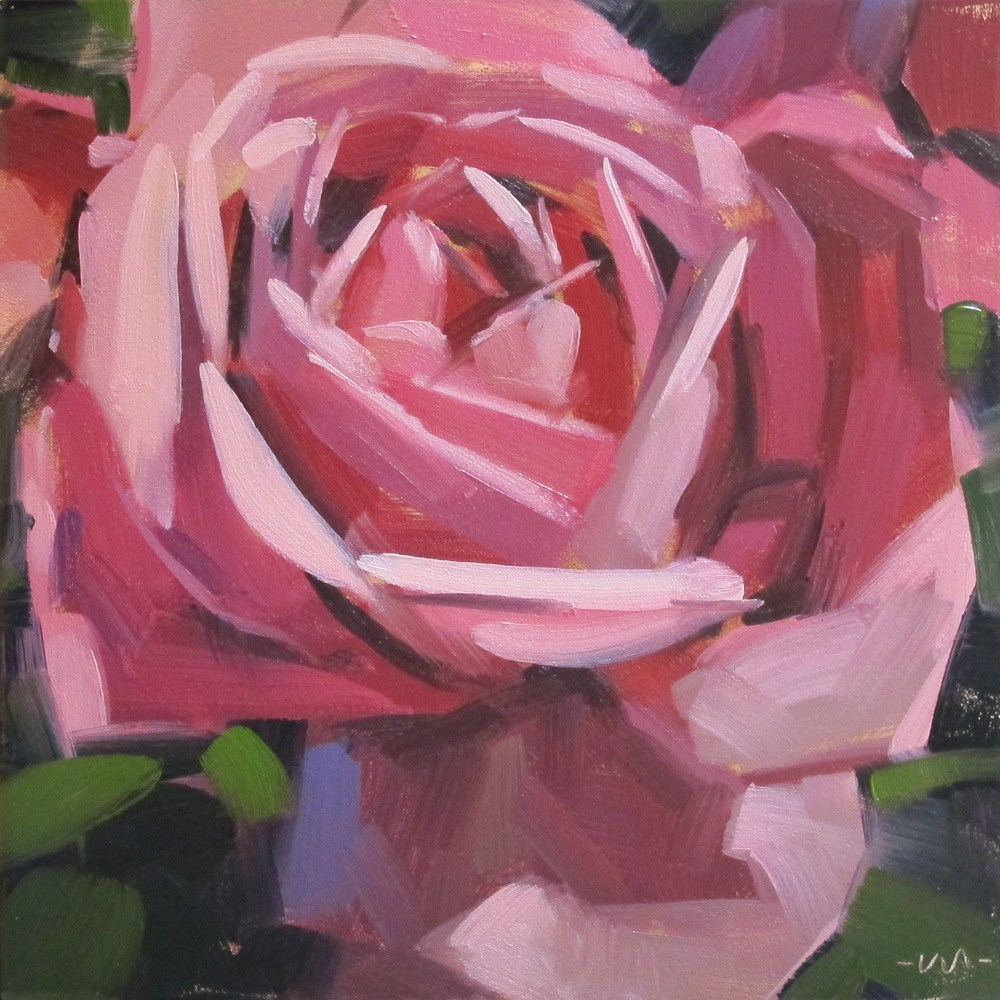 """The Rose Knows"" original fine art by Carol Marine"