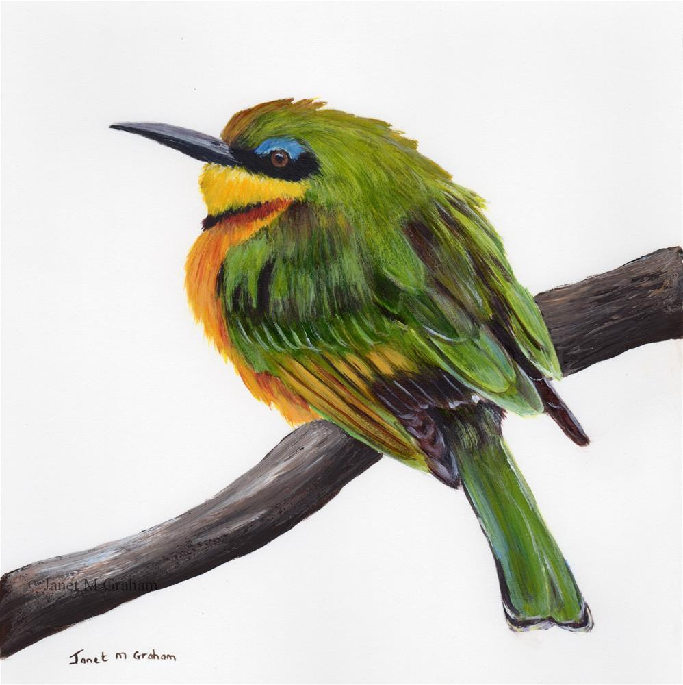 """Little Bee - Eater"" original fine art by Janet Graham"