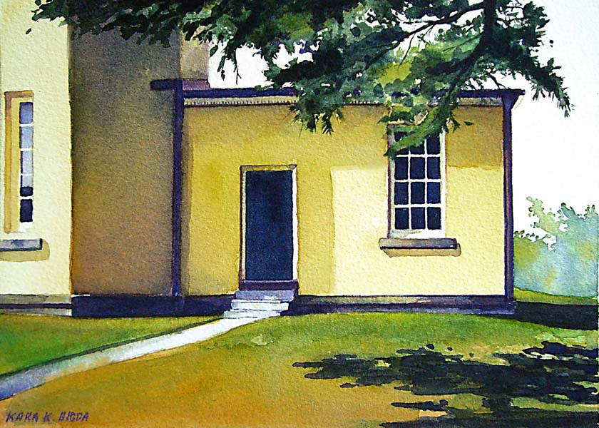 """The Amherst College Octagon"" original fine art by Kara K. Bigda"
