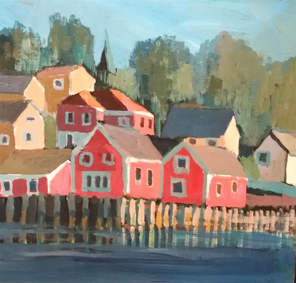 """Lunenburg "" original fine art by Liz Maynes"