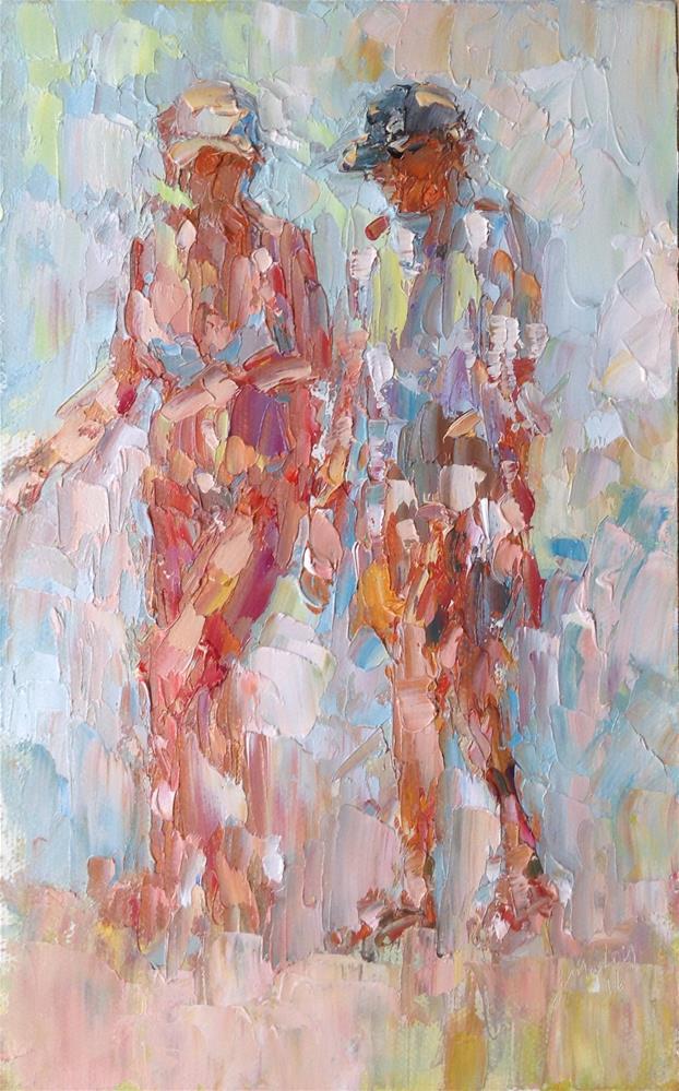 """Figures talking "" original fine art by Joseph Mahon"