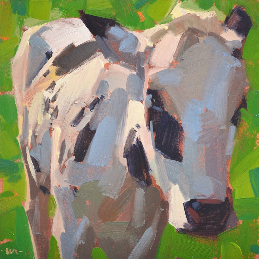 """Shy Cow"" original fine art by Carol Marine"
