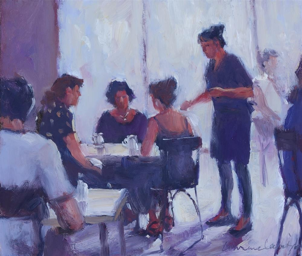 """Morning Tea"" original fine art by Lorraine Lewitzka"
