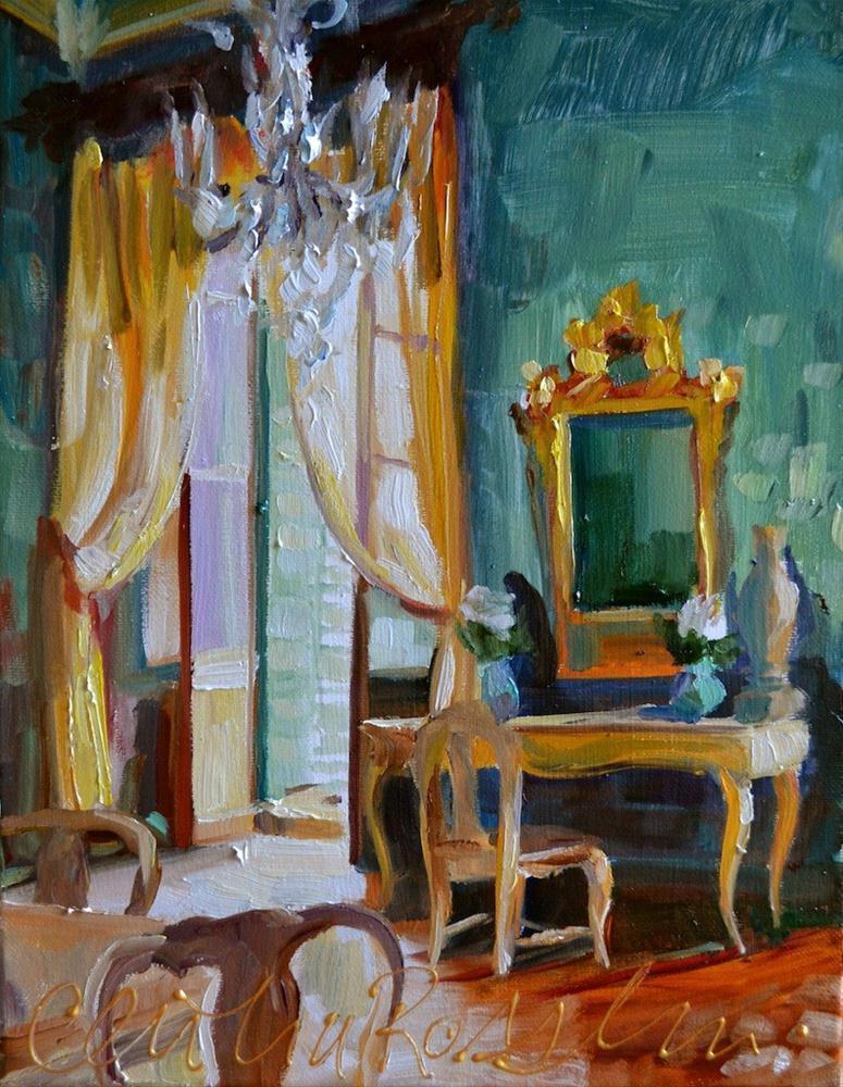 """VERDIGRIS"" original fine art by Cecilia Rosslee"