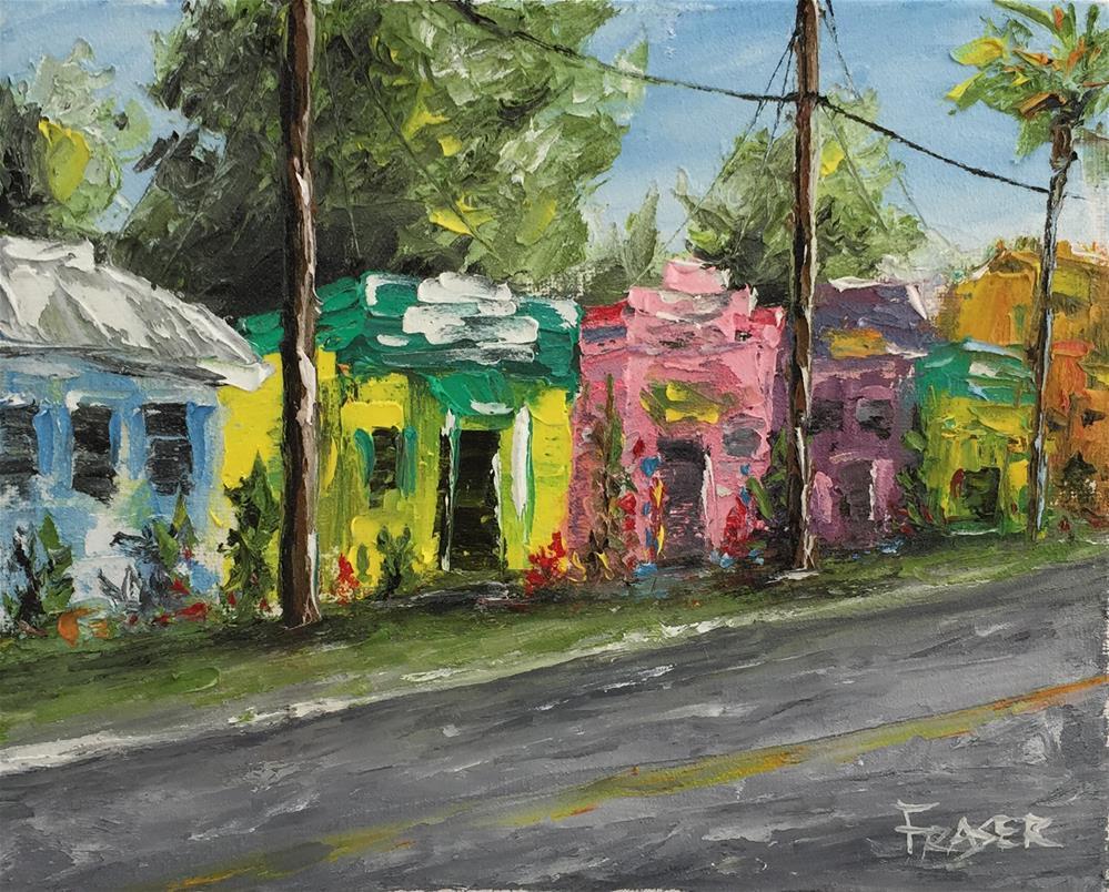 """Shops in Matlacha"" original fine art by Ken Fraser"