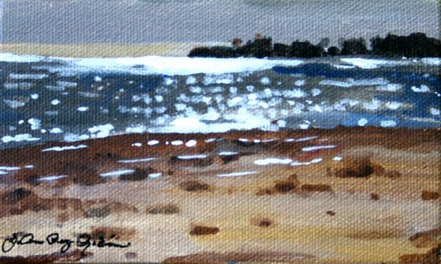 """""""Sparkly Sea"""" original fine art by JoAnne Perez Robinson"""