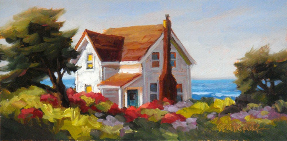 """Situated by the Sea"" original fine art by Erin Dertner"