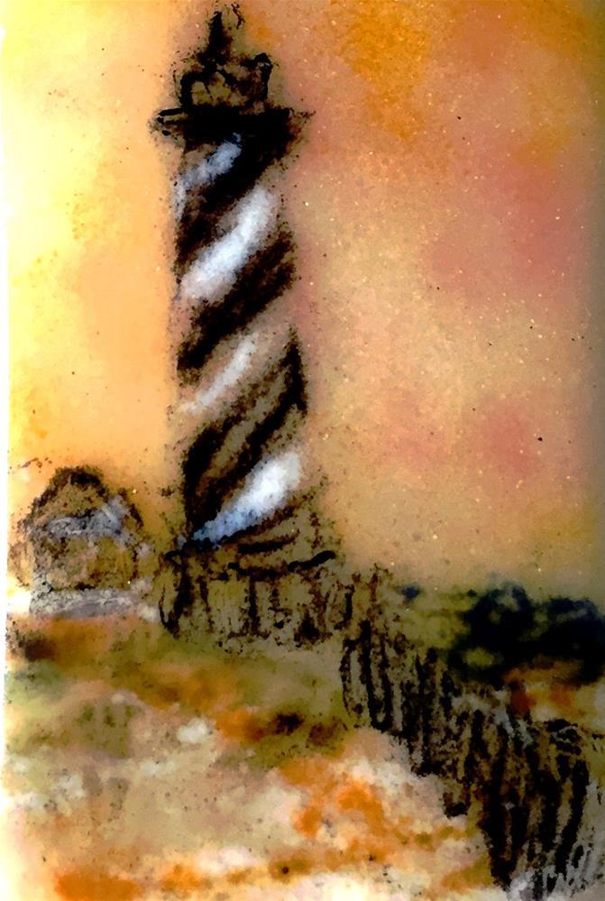 """""""Hatteras light"""" original fine art by Kristen Dukat"""