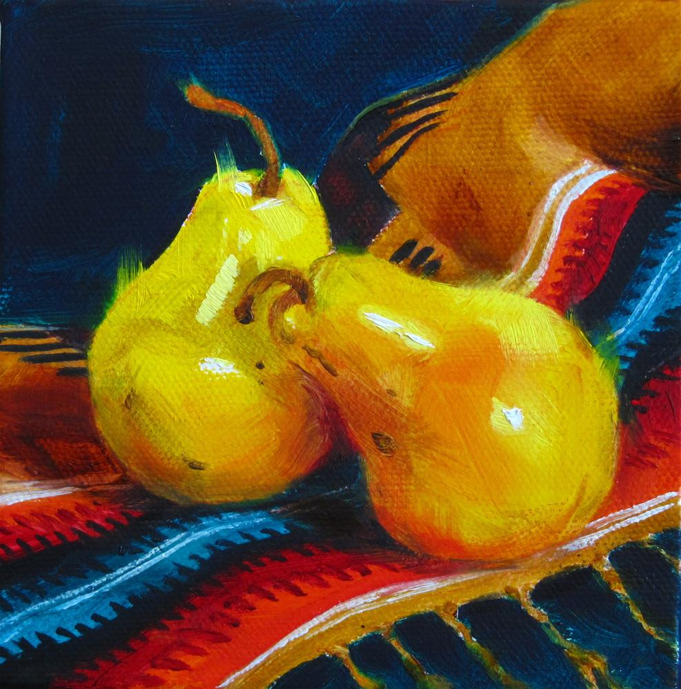 """Pears Gone Native"" original fine art by Mary  Van Deman"