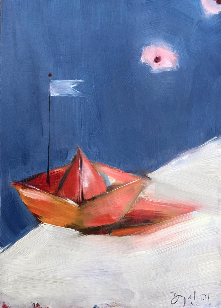 """Boat_OCT132015"" original fine art by Jenny Doh"