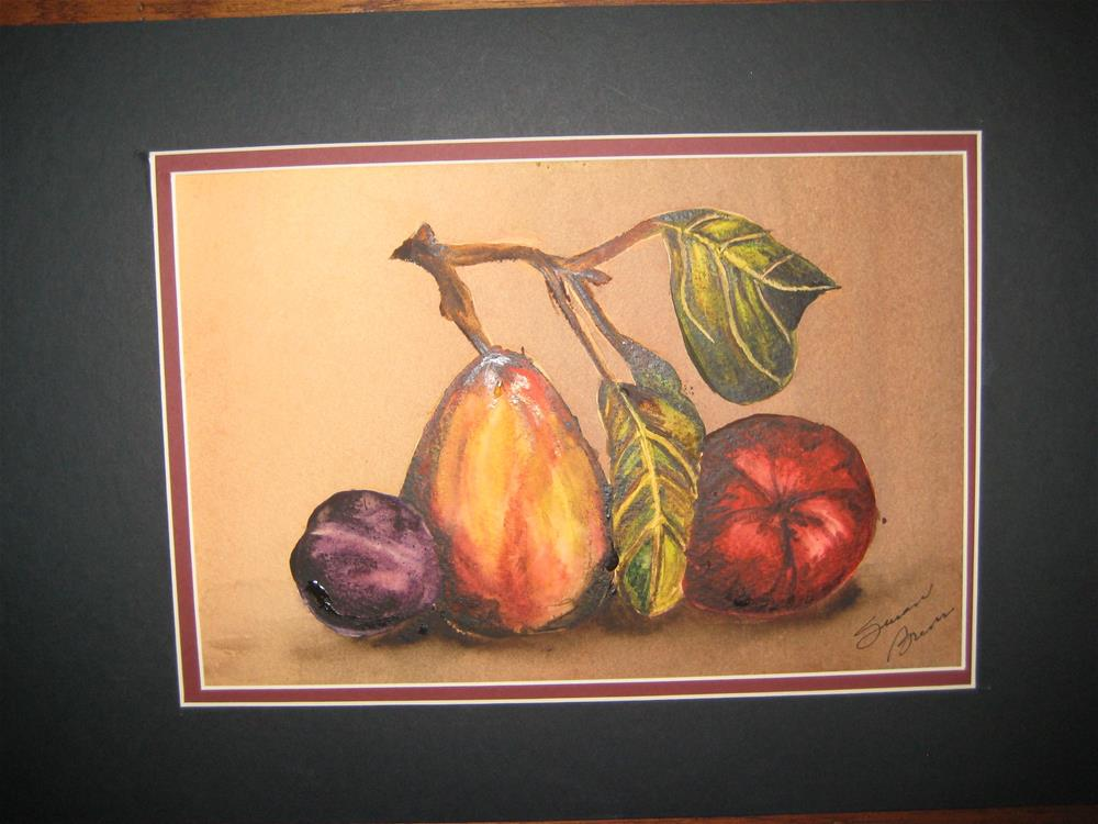 """Fruit Still Life"" original fine art by Susan Brens"