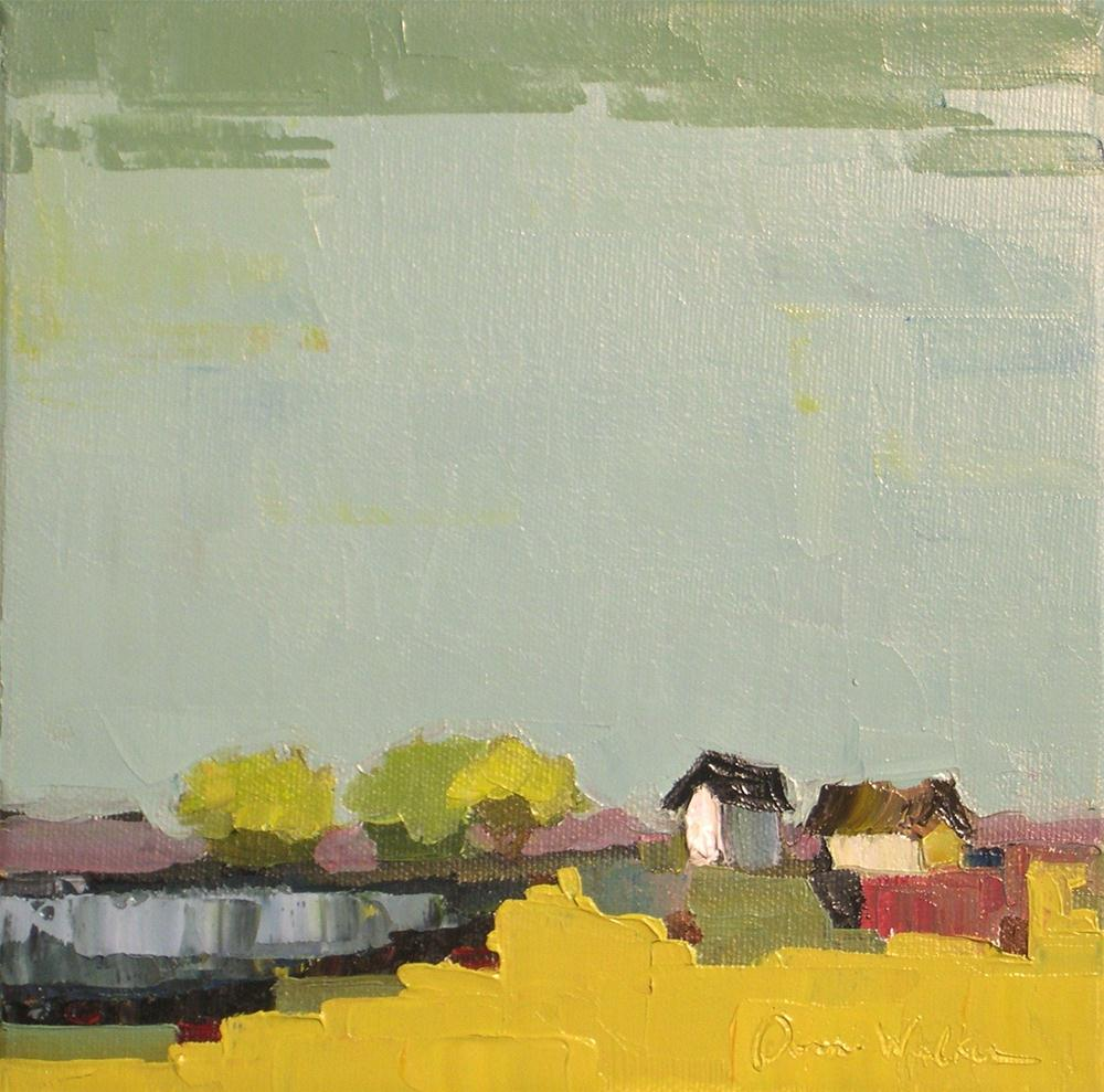 """Geometric Farm II"" original fine art by Donna Walker"