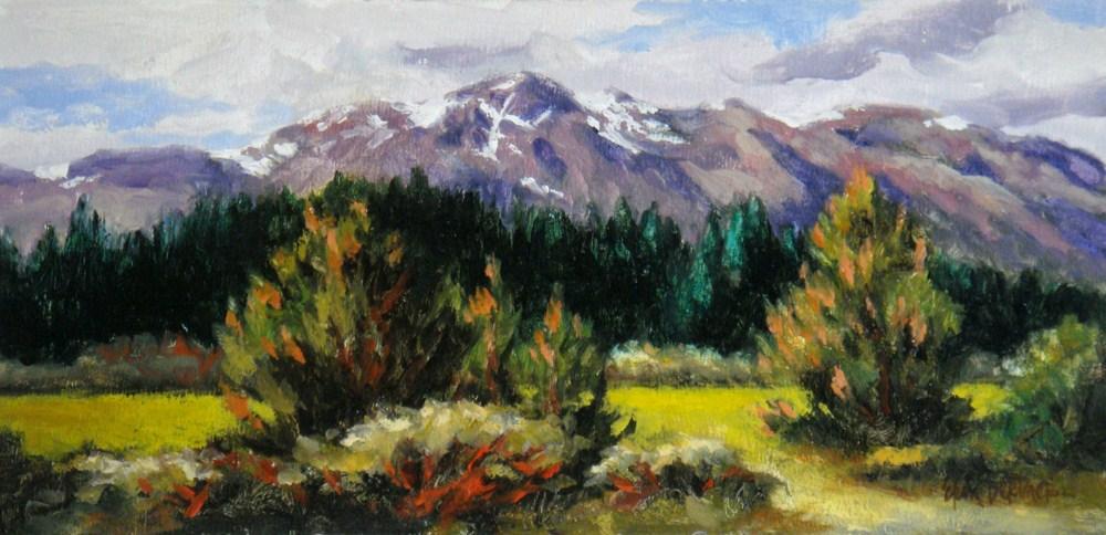"""Tallac Backdrop"" original fine art by Erin Dertner"