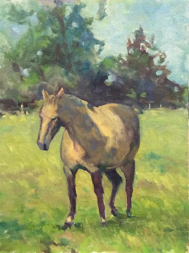 """The Grey Mare 2"" original fine art by John Shave"