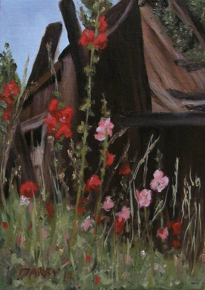 """Ramshackle"" original fine art by Lynn Darby"