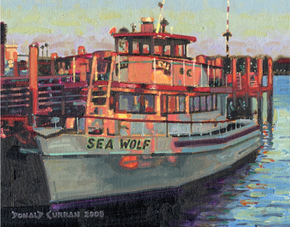 """Sea Wolf"" original fine art by Donald Curran"