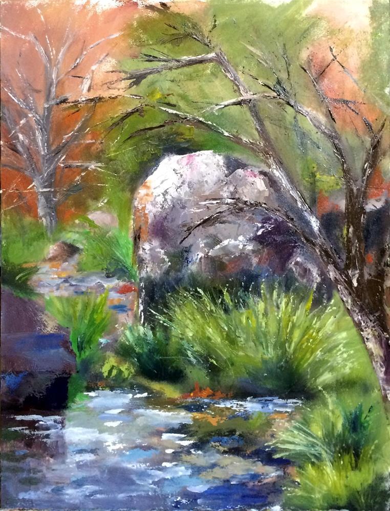 """Oak Creek, Arizona"" original fine art by Tamsen Armstrong"