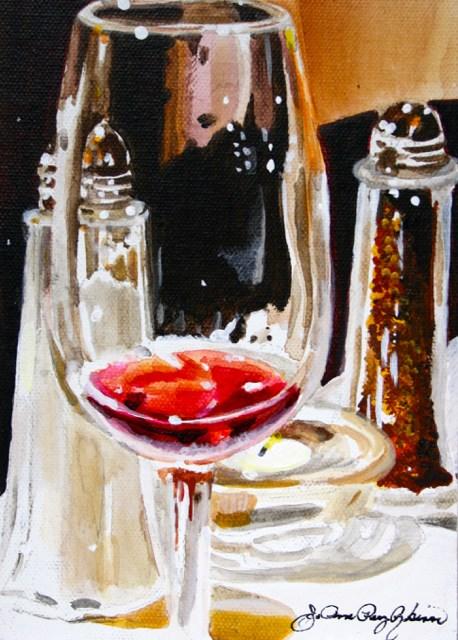 """Last Drop of Pinot"" original fine art by JoAnne Perez Robinson"