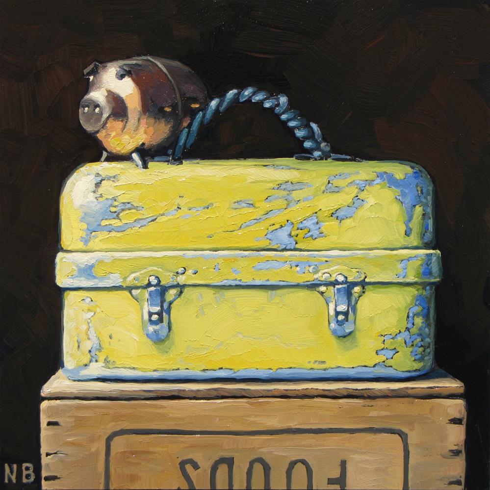 """Hog Wild"" original fine art by Nora Bergman"