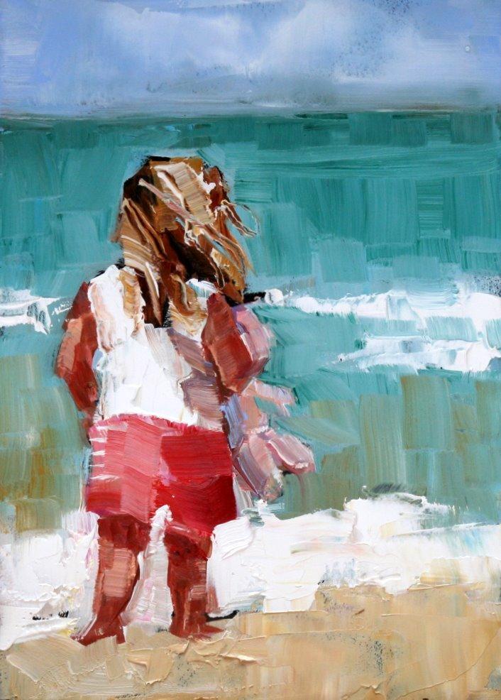 """""""beach baby"""" original fine art by Carol Carmichael"""