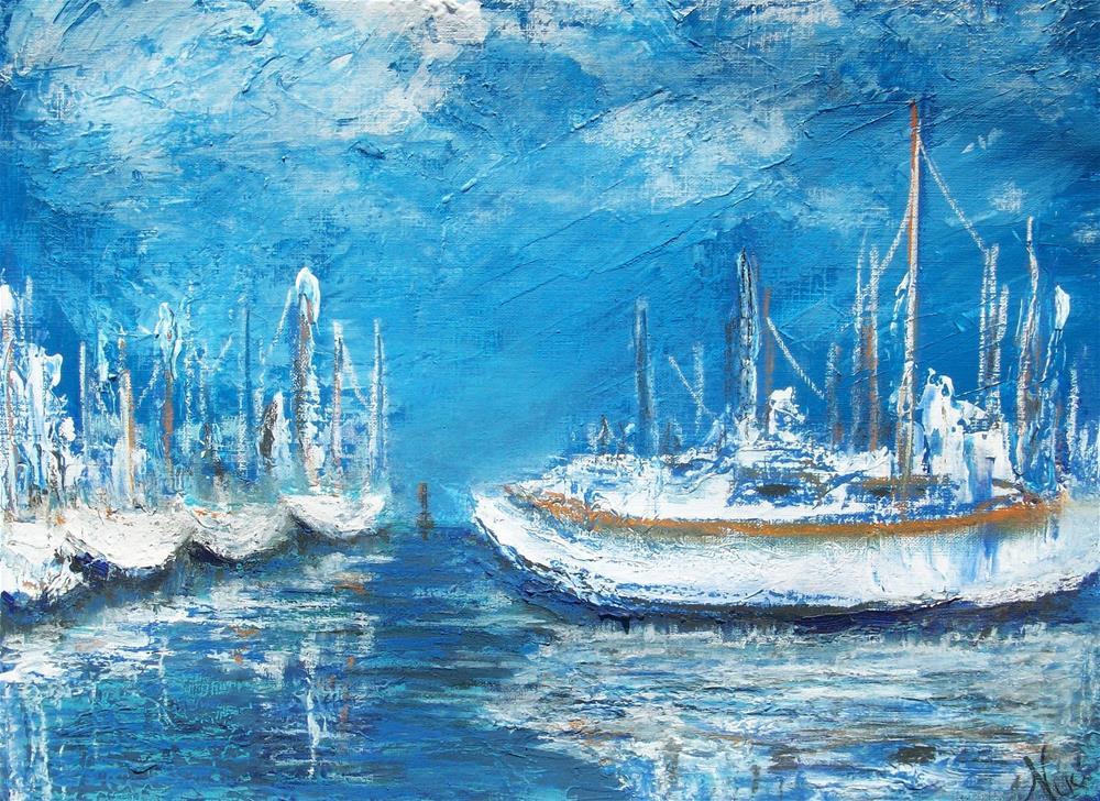 """""""Harbor Reflections"""" original fine art by Niki Hilsabeck"""