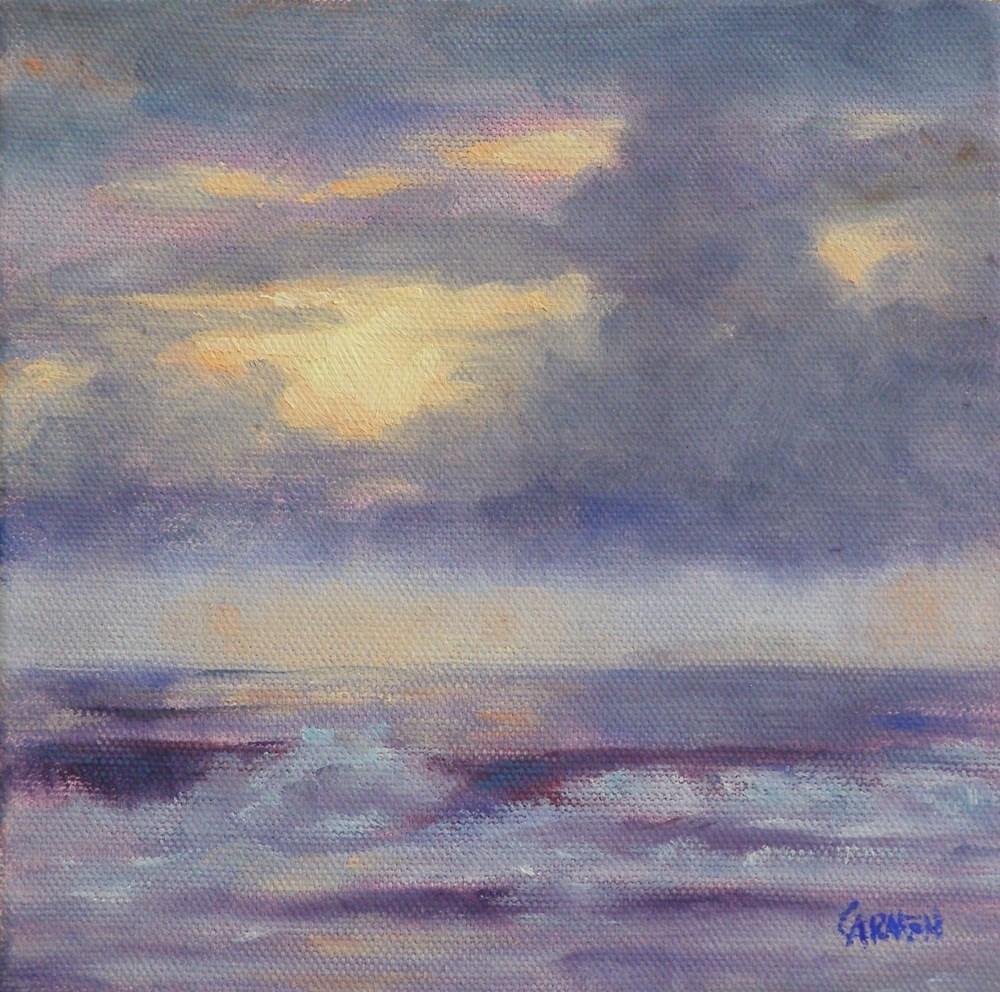 """Here Comes the Sun, 6x6 Oil on Canvas"" original fine art by Carmen Beecher"