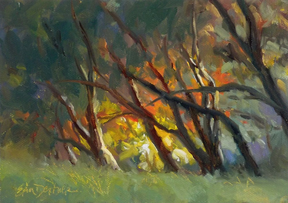"""Last Flickers of Light"" original fine art by Erin Dertner"