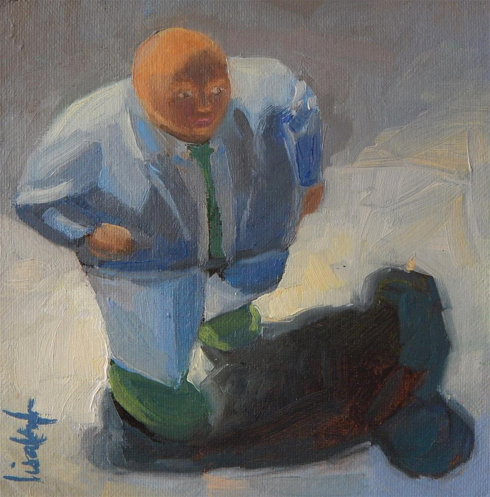"""The Working Man"" original fine art by Lisa Kyle"