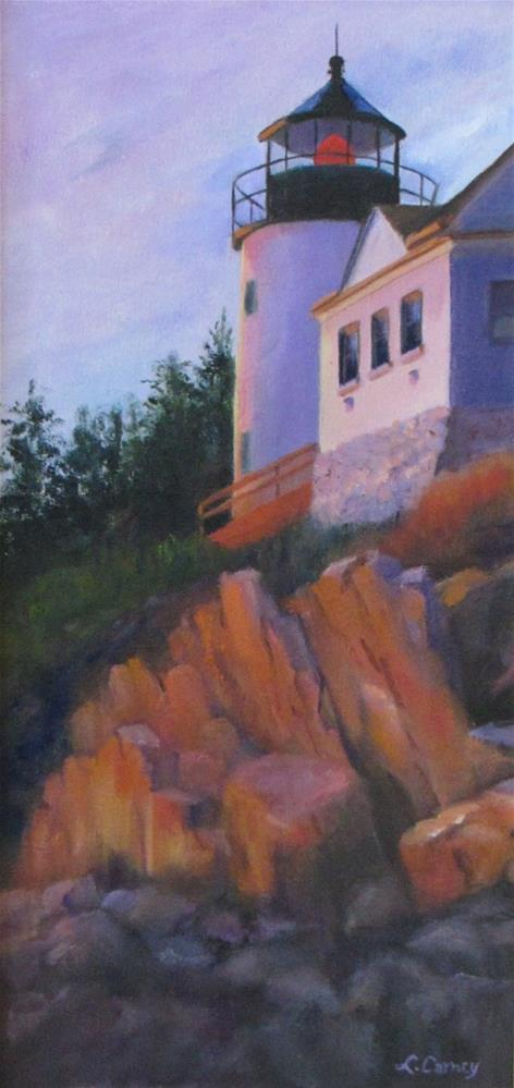 """Sunset on Bass Harbor"" original fine art by Linda Carney"
