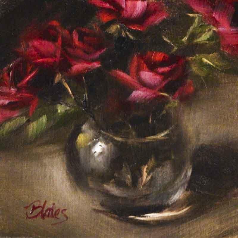 """Spring Garden Roses"" original fine art by Pamela Blaies"