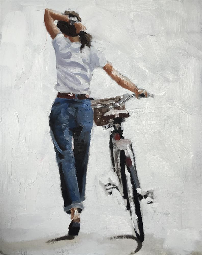 """Bicycle"" original fine art by James Coates"