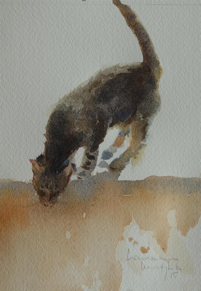 """Exploring Cat"" original fine art by Lorraine Lewitzka"