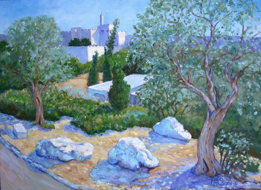 """View of the Tower of David,  Jerusalem"" original fine art by Patricia Musgrave"
