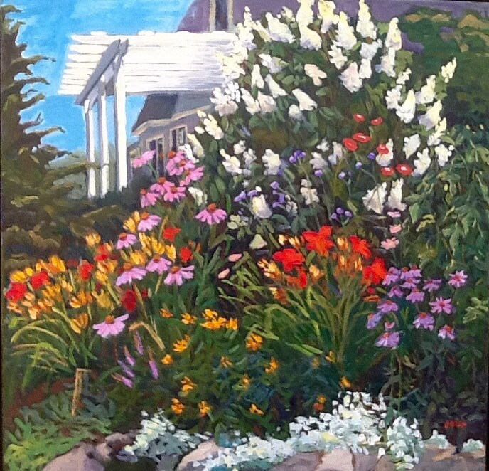 """Fanfare at Windward"" original fine art by Elizabeth Bish"