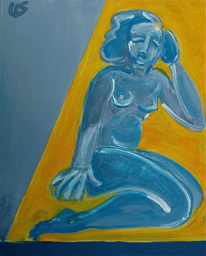 """Lady Grey"" original fine art by Ulrike Schmidt"