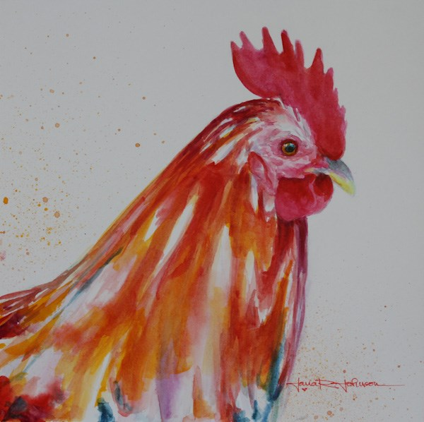 """Kauai Chicken"" original fine art by Jana Johnson"