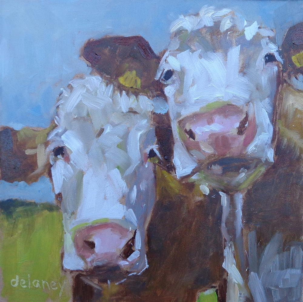 """Cow 78 BFF"" original fine art by Jean Delaney"
