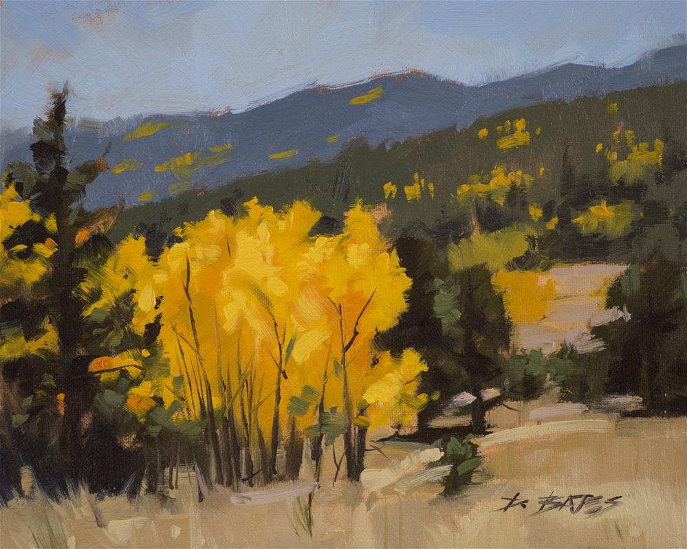 """Aspens at Wilkerson Pass"" original fine art by David Bates"