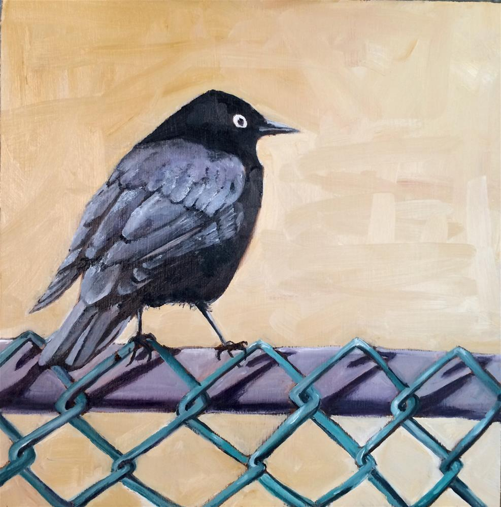 """Blackbird Chain"" original fine art by Tamsen Armstrong"