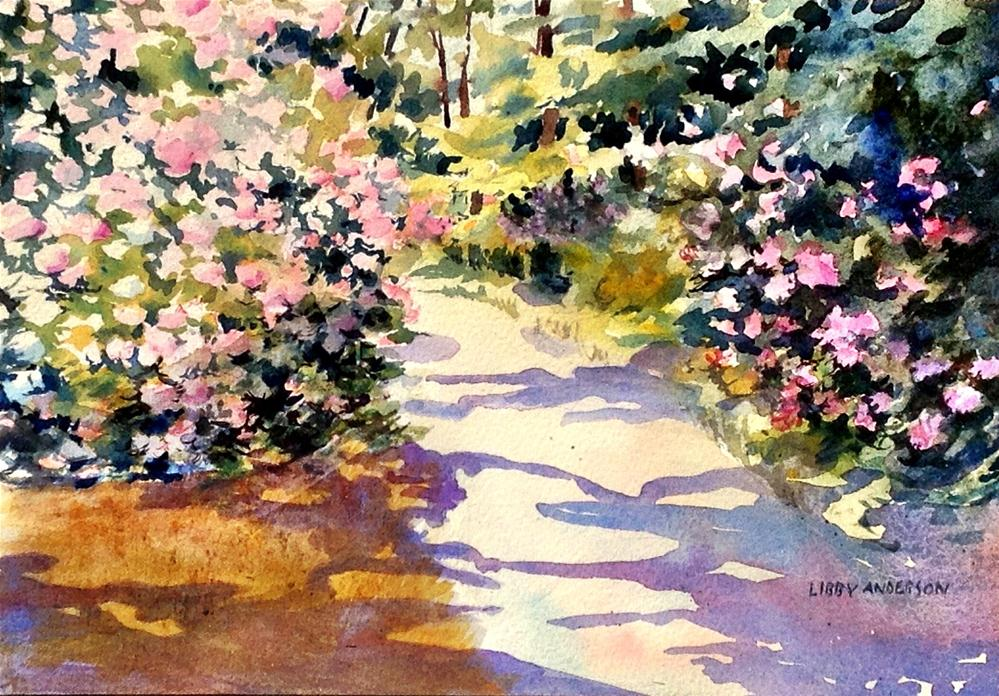 """Longwood Rhododendrons"" original fine art by Libby Anderson"