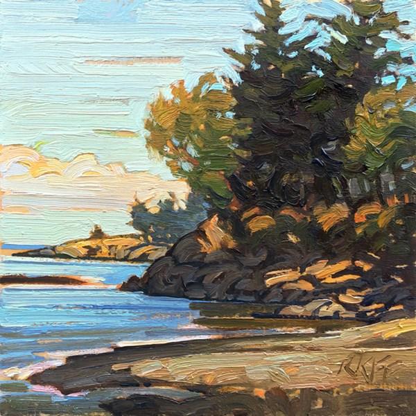 """""""Albert Head Sun"""" original fine art by Ken Faulks"""